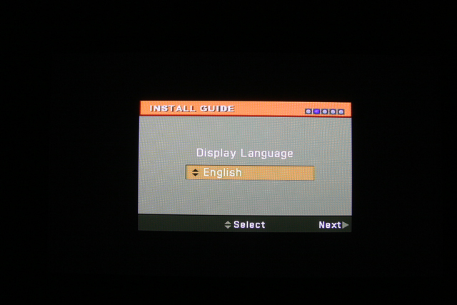 Artec T3AP Choose Language Screen